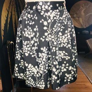 Anthro Moulinette Soeurs Inked Floral Skirt
